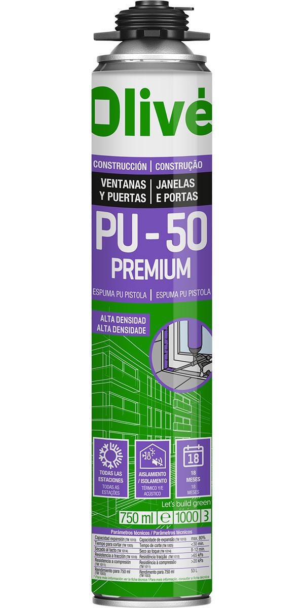 Espuma premium para pegado de ventanas y puertas