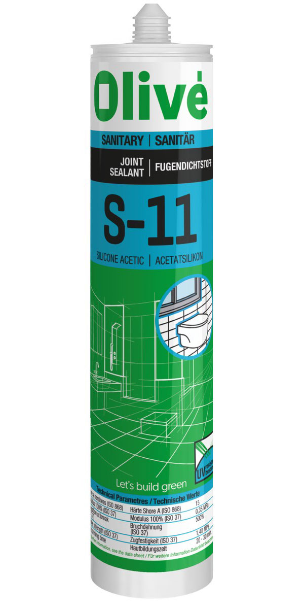 S-11 Silicone acetic. Kitchen and bath