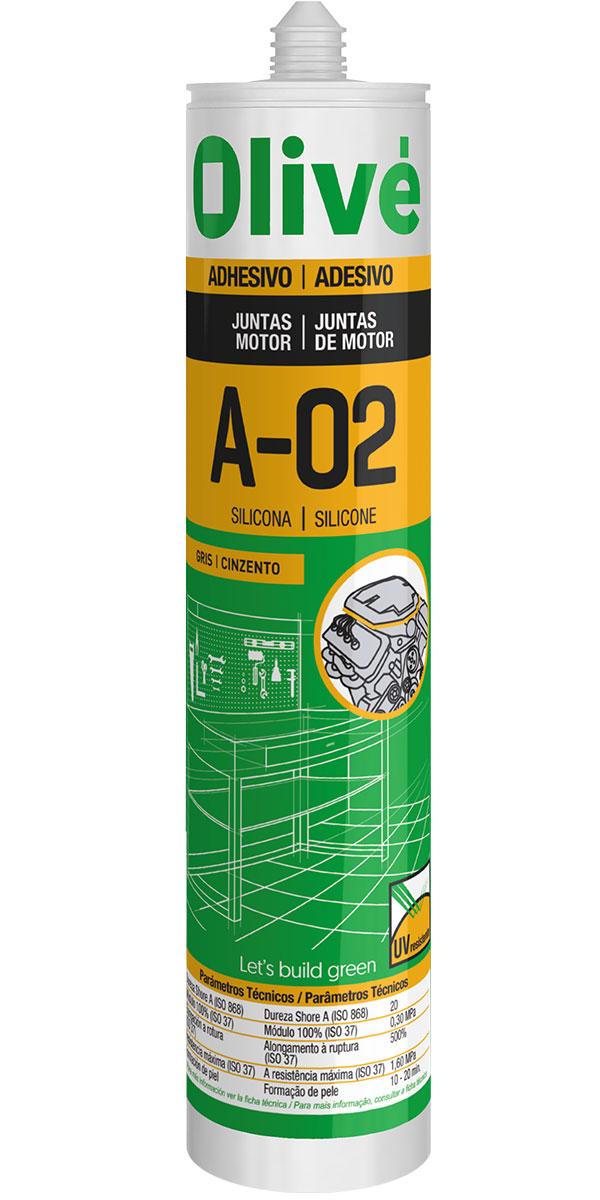 Silicona acética para juntas de motor A-02