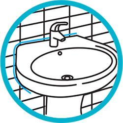 Silicona acética para sellado de bañeras, lavabos, WC, platos de ducha, etc.