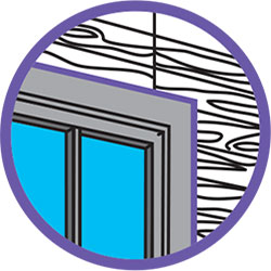 Silicona para instalación de ventanas de madera
