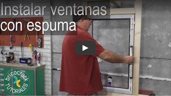 Instalar y aislar ventanas con espuma (Bricocrack)