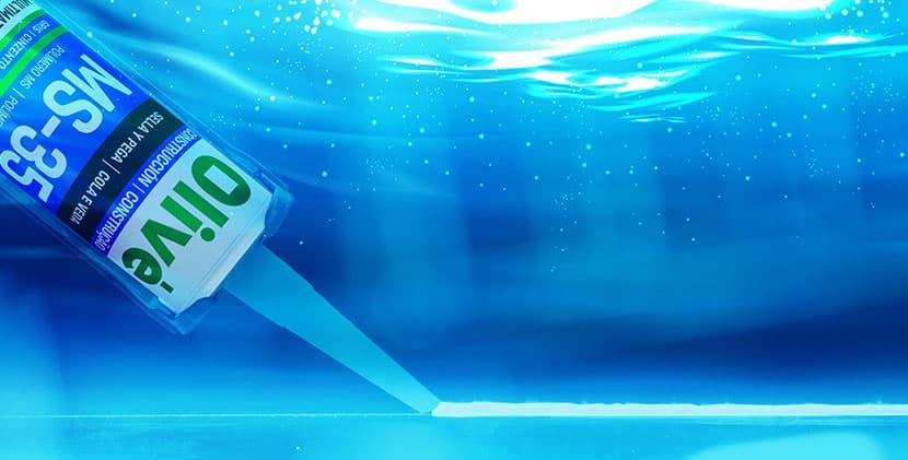 Pegado bajo el agua