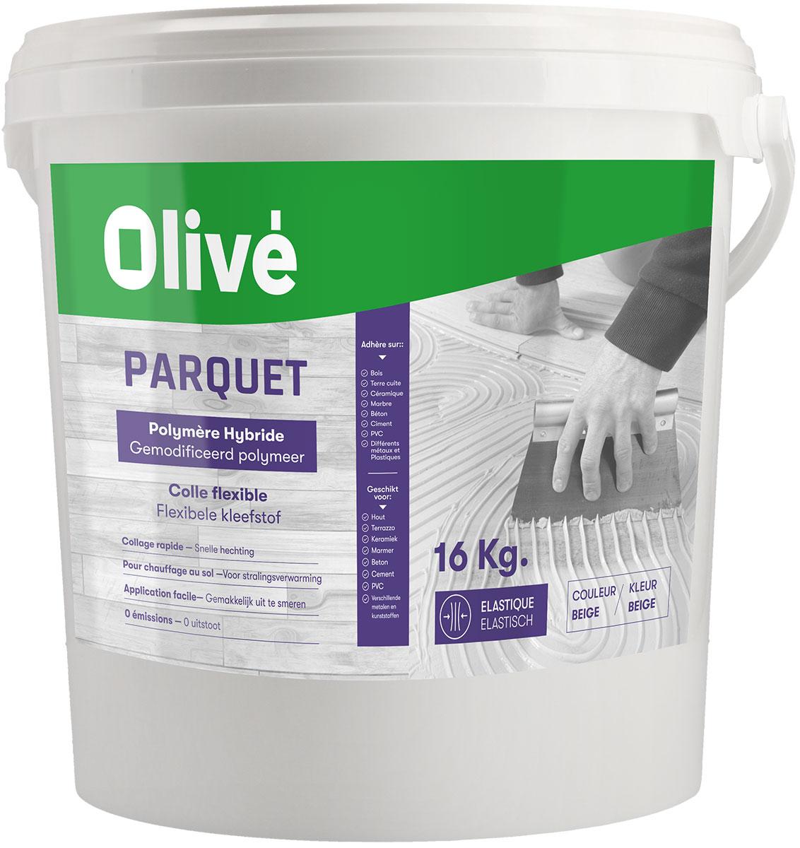 Olivé parquet polymere