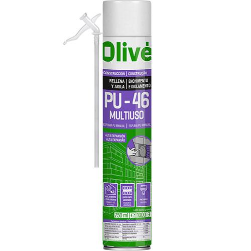 Espuma de poliuretano para rellenar y aislar huecos