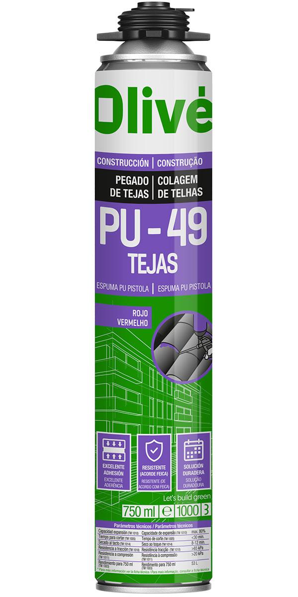 Espuma PU para pegado de tejas
