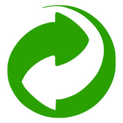 Etiqueta punto verde reciclaje