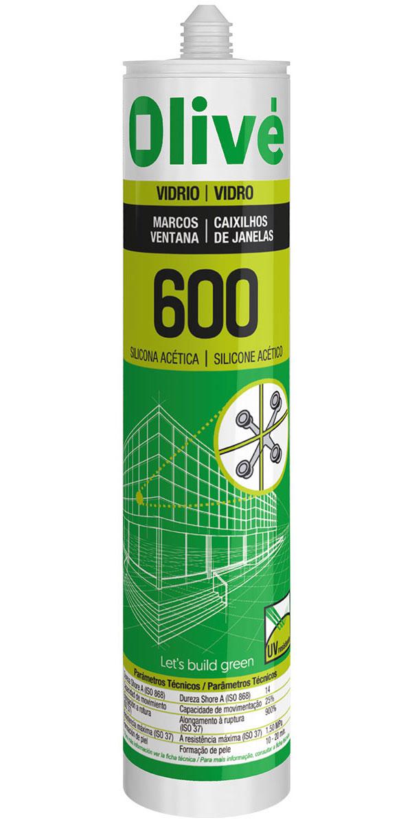 Silicona para marcos y ventanas Olivé 600
