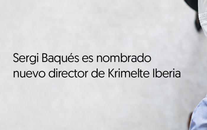 Sergi Baqués es nombrado nuevo director de Krimelte Iberia