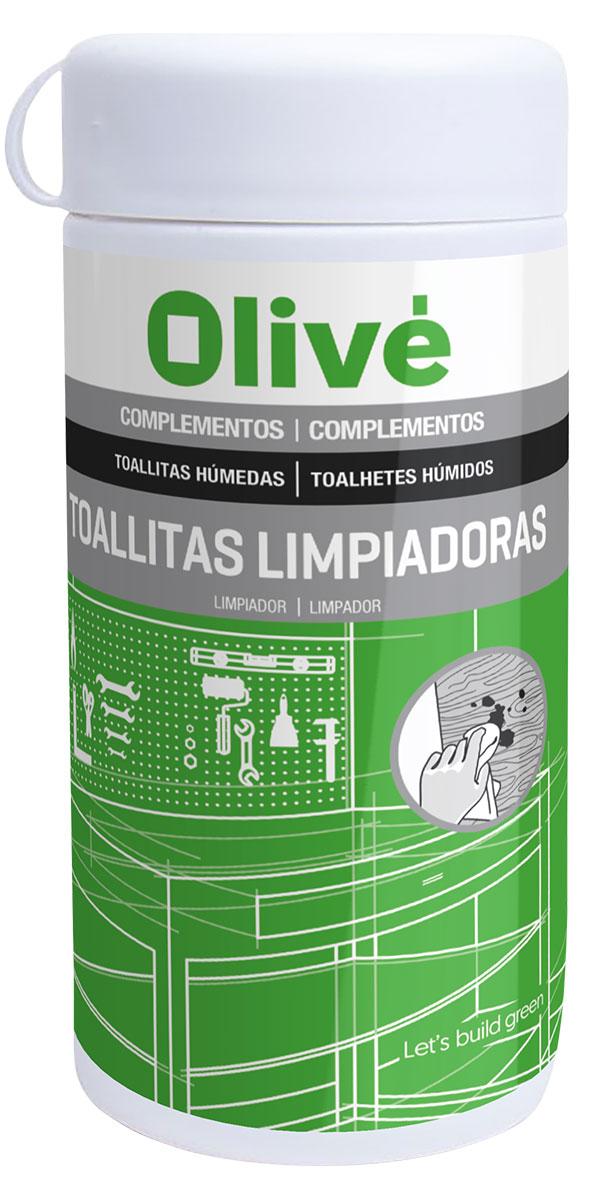 Toallitas limpiadoras Olivé, 100 unidades